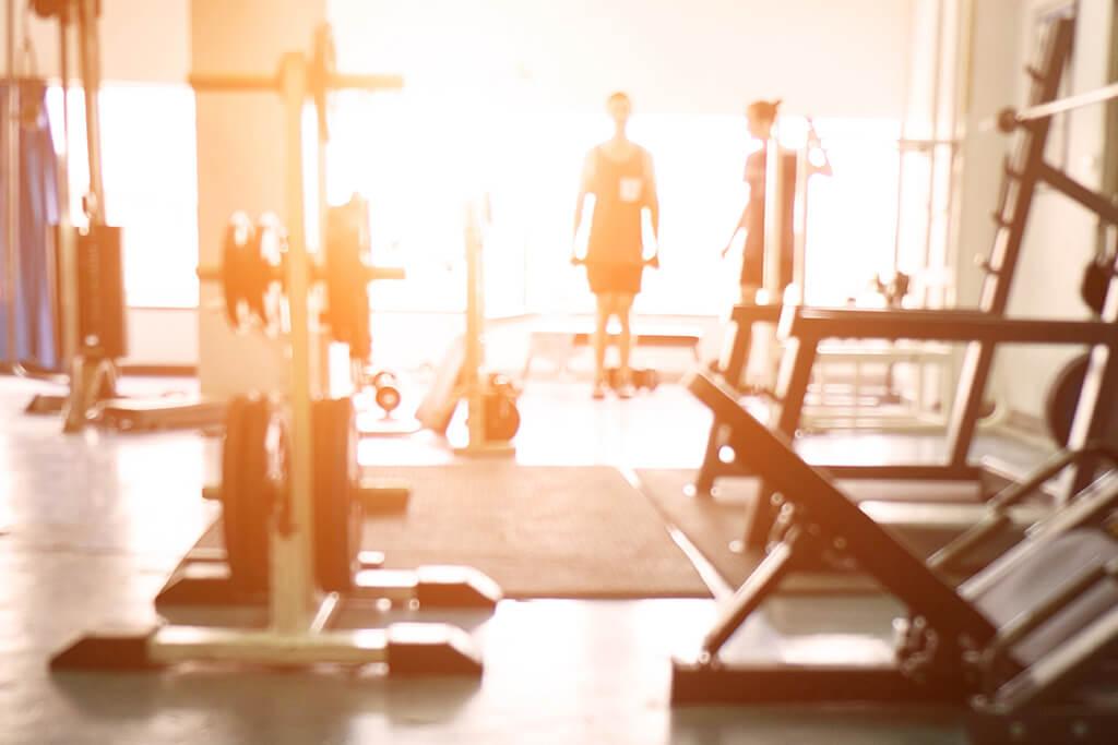 Gym in sunlight